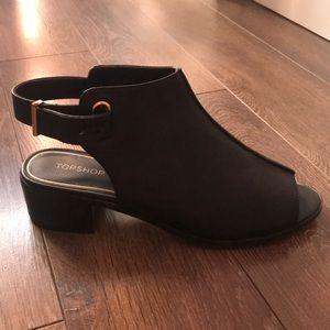 Top shoe black shoes